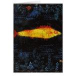 Paul Klee los pescados de oro del oro de los Tarjeta De Felicitación
