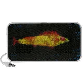 Paul Klee los pescados Goldfisch Fische del oro de Portátil Altavoces