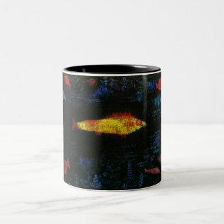 Paul Klee los pescados Goldfisch Fische del oro Taza De Dos Tonos