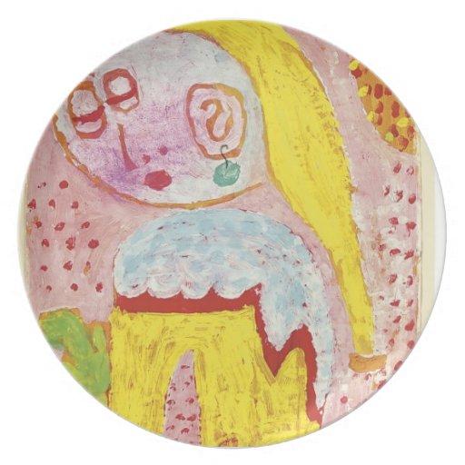 Paul Klee- Magdalena antes de la conversión Plato Para Fiesta
