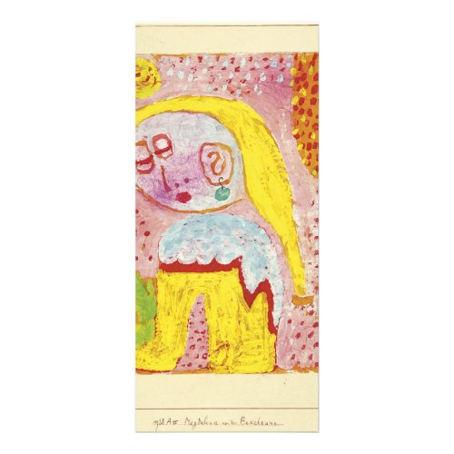 Paul Klee- Magdalena before the conversion Custom Rack Cards