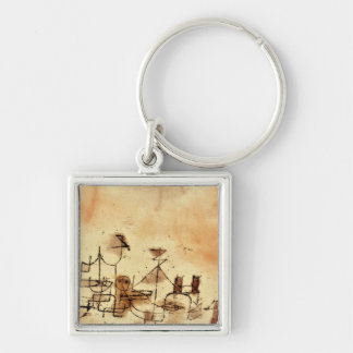 Paul Klee - North Africa Silver-Colored Square Keychain