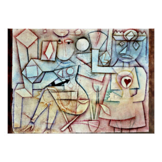 Paul Klee: Old Love Song, painting by Klee Poster