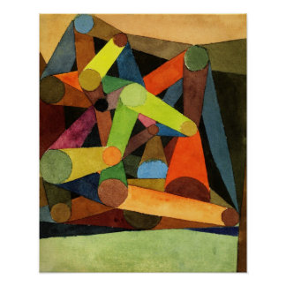 Paul Klee Opened Mountain Poster