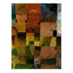 Paul Klee - Red and White Domes painting Postcards