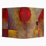 Paul Klee Red Balloon Colorful Abstract 3 Ring Binder