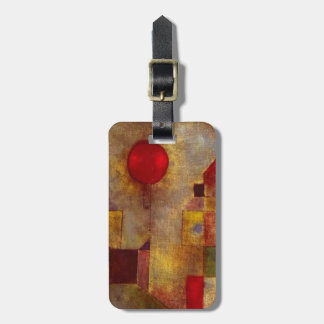 Paul Klee Red Balloon Colorful Abstract Bag Tag