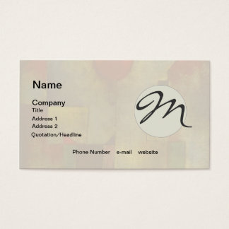 Paul Klee Red Balloon Colorful Abstract Business Card