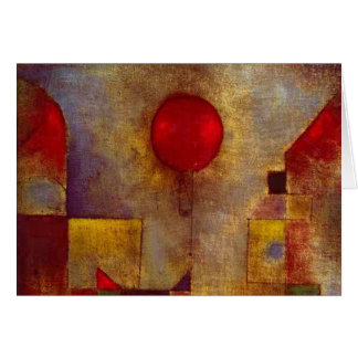 Paul Klee Red Balloon Colorful Abstract Card
