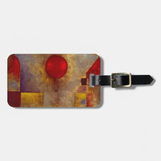 Paul Klee Red Balloon Colorful Abstract Luggage Tag