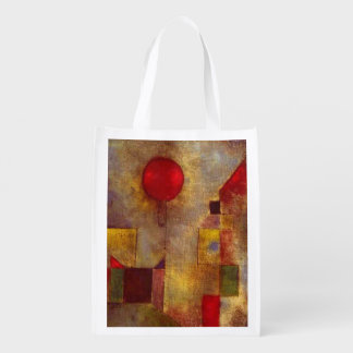 Paul Klee Red Balloon Colorful Abstract Market Tote