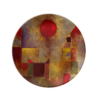 Paul Klee Red Balloon Colorful Abstract Porcelain Plate