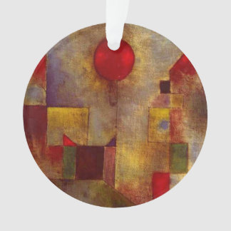 Paul Klee Red Balloon Colorful Abstract Ornament