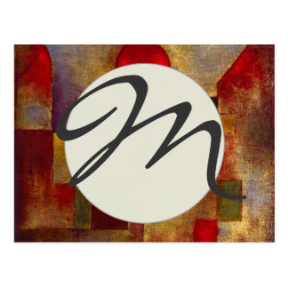 Paul Klee Red Balloon Colorful Abstract Postcard