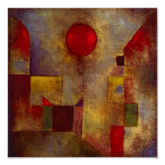 Paul Klee Red Balloon Colorful Abstract Poster