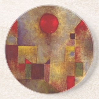 Paul Klee Red Balloon Colorful Abstract Sandstone Coaster
