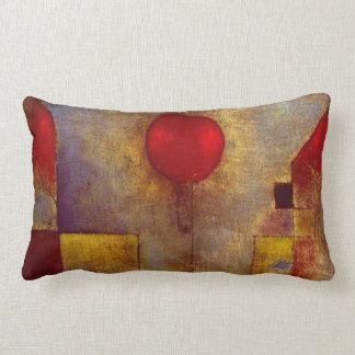 Paul Klee Red Balloon Colorful Abstract Throw Pillow