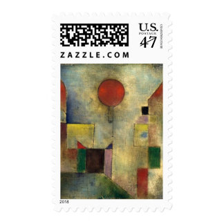 Paul Klee Red Balloon Postage Stamp