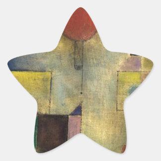 Paul Klee Red Balloon Star Sticker