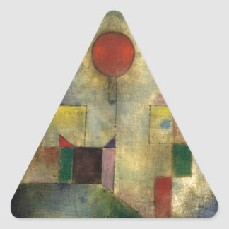 Paul Klee Red Balloon Triangle Sticker