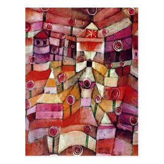Paul Klee - rosaleda Tarjeta Postal