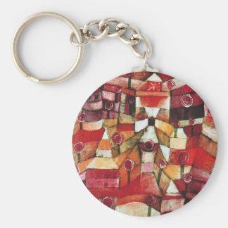 Paul Klee Rose Garden Key Chain