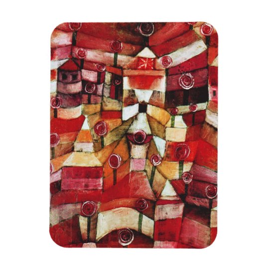 Paul Klee Rose Garden Magnet