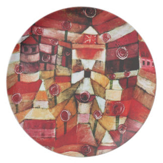 Paul Klee Rose Garden Plate