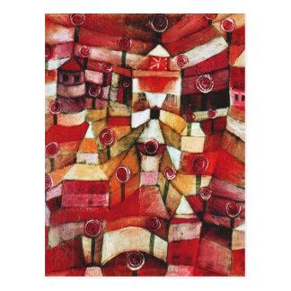 Paul Klee Rose Garden Postcard