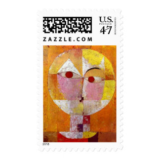 Paul Klee Senecio Painting Postage Stamp