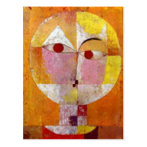 Paul Klee Senecio Painting Postcard