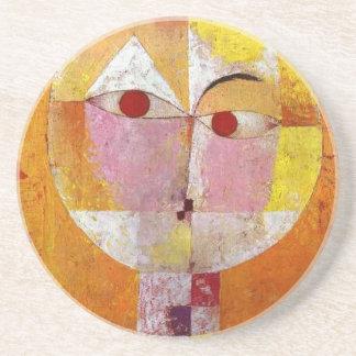 Paul Klee Senecio Painting Sandstone Coaster