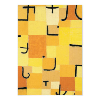 Paul Klee - Signs In Yellow Card