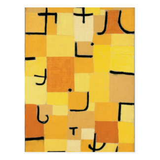 Paul Klee - Signs In Yellow Postcard