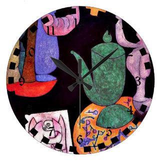 Paul Klee: Sin título (aún vida) Reloj Redondo Grande