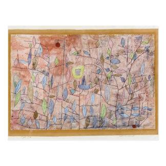 Paul Klee- Sparse foliage Postcard