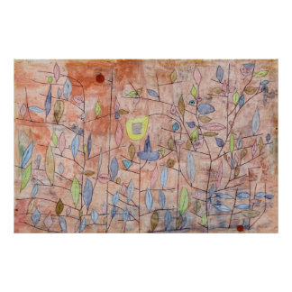 Paul Klee Sparse Foliage Poster