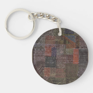 Paul Klee- Structural II Single-Sided Round Acrylic Keychain