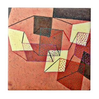 Paul Klee - Surfaces apoyada (1930) Azulejo Cuadrado Pequeño