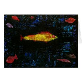 Paul Klee The Goldfish Gold Fish Goldfisch Fische Card