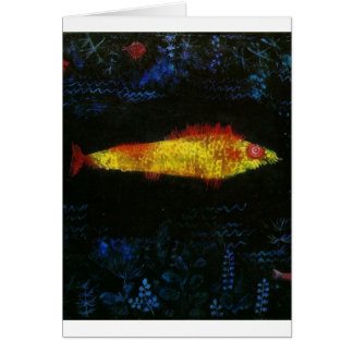 Paul Klee The Goldfish Gold Fish Goldfisch Fische Greeting Card