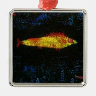 Paul Klee The Goldfish Gold Fish Goldfisch Fische Metal Ornament
