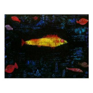 Paul Klee The Goldfish Gold Fish Goldfisch Fische Postcard