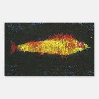 Paul Klee The Goldfish Gold Fish Goldfisch Fische Rectangular Sticker