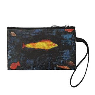 Paul Klee The Goldfish Vintage Watercolor Art Change Purse