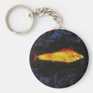 Paul Klee The Goldfish Vintage Watercolor Art Keychain