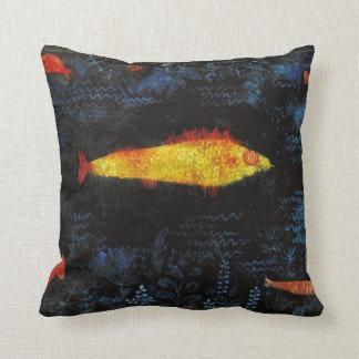 Paul Klee The Goldfish Vintage Watercolor Art Throw Pillow