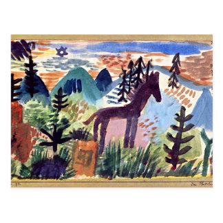 Paul Klee - The Horse Postcard