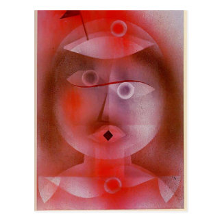 Paul Klee: The Mask with the Little Flag Postcard