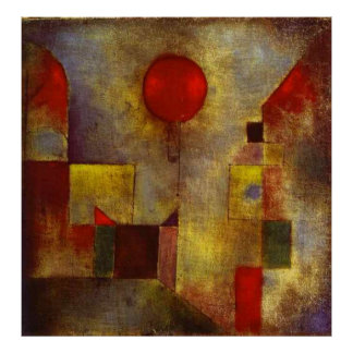 Paul Klee ~ The Red Balloon Poster